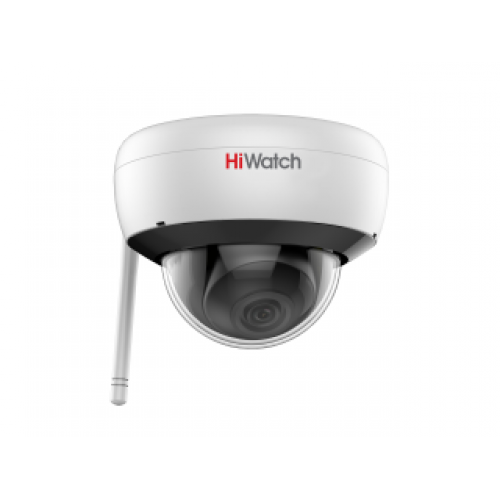 2 Мп купольная IP-видеокамера с EXIRподсветкой до 30 м, Wi-Fi и микрофоном HiWatch DS-I252W(B)