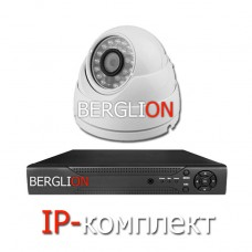 Комплект IP видеонаблюдения (помещение)