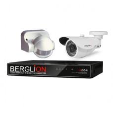 Комплект видеонаблюдения + датчик включения свет