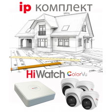 IP ColorVu комплект DOM 4